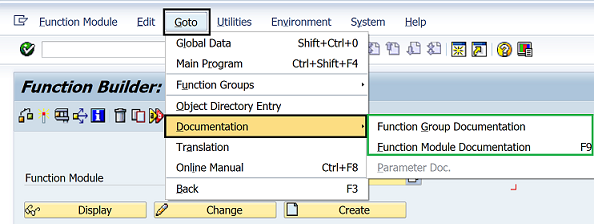 SAP function module documentation