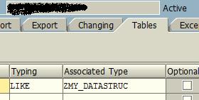SAP Function Module tables parameter