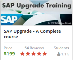 SAP Upgrade training – A Complete course
