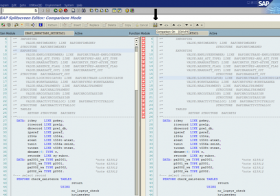 Compare two ABAP objects using SE39 Split screen editor