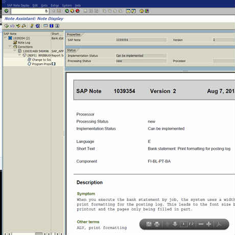 what is oss message in sap