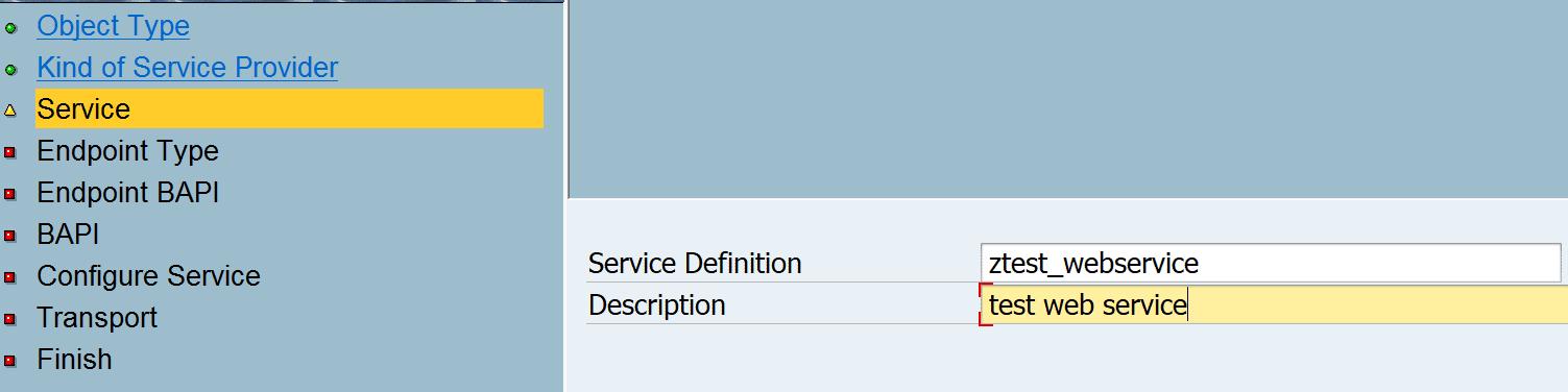 Create SAP web service SOAP (WSDL) service provider