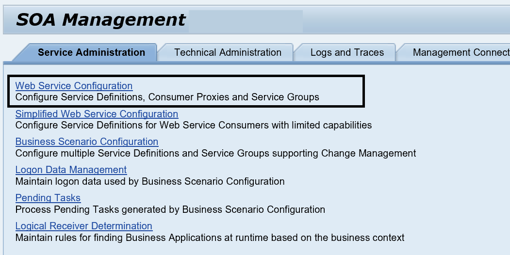 SOAMANAGER configuration to setup SAP web service provider