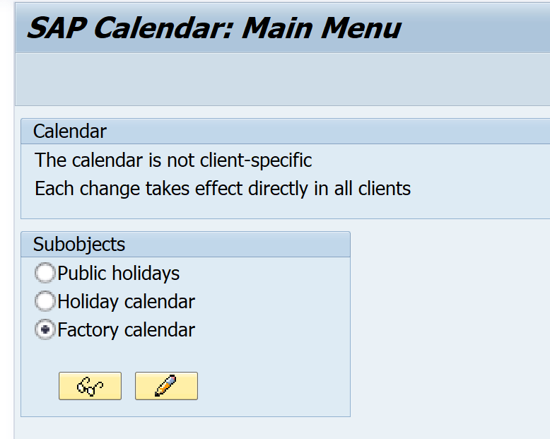 scal transaction factory calender