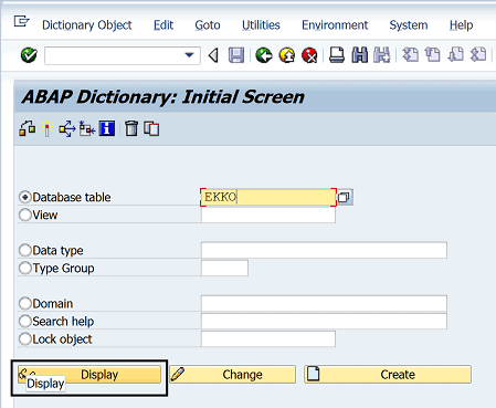 How to display a SAP table